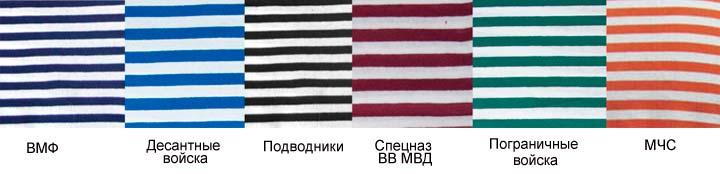 Какого цвета тельняшки у морской пехоты