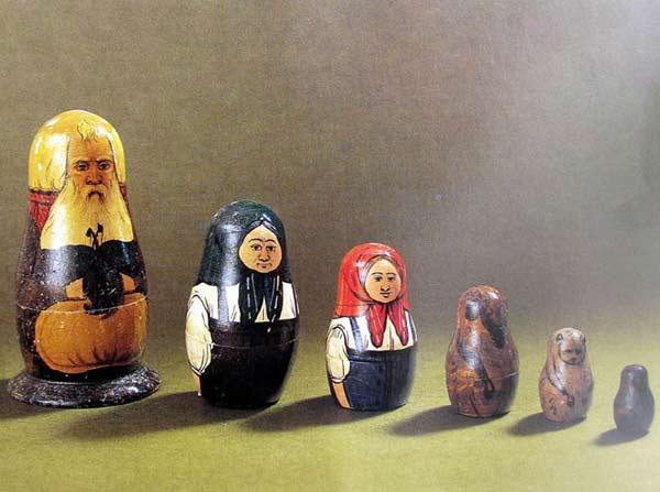 Матрешка Репка - одна из первых русских матрешек