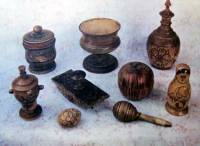 Wooden items made in Semionov in past