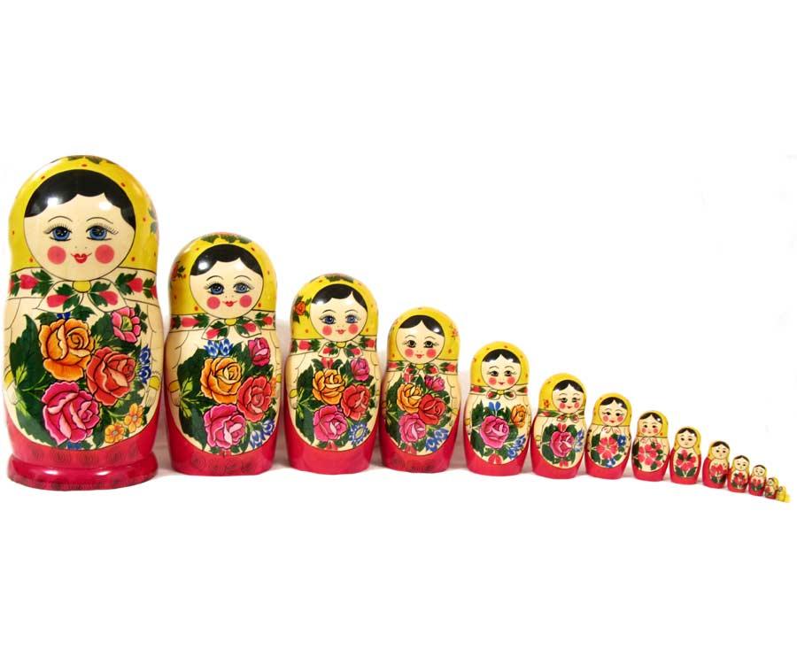 Матрешка Россияночка, 15 местная, фото 3