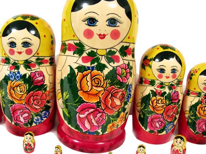 Матрешка Россияночка, 15 местная, фото 6