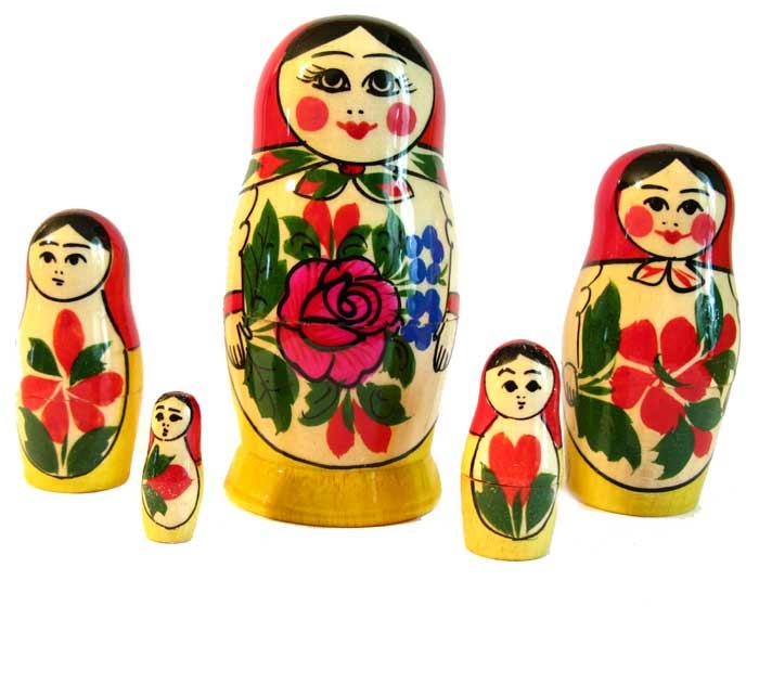 Матрешка Россияночка, 5 мест, фото 1