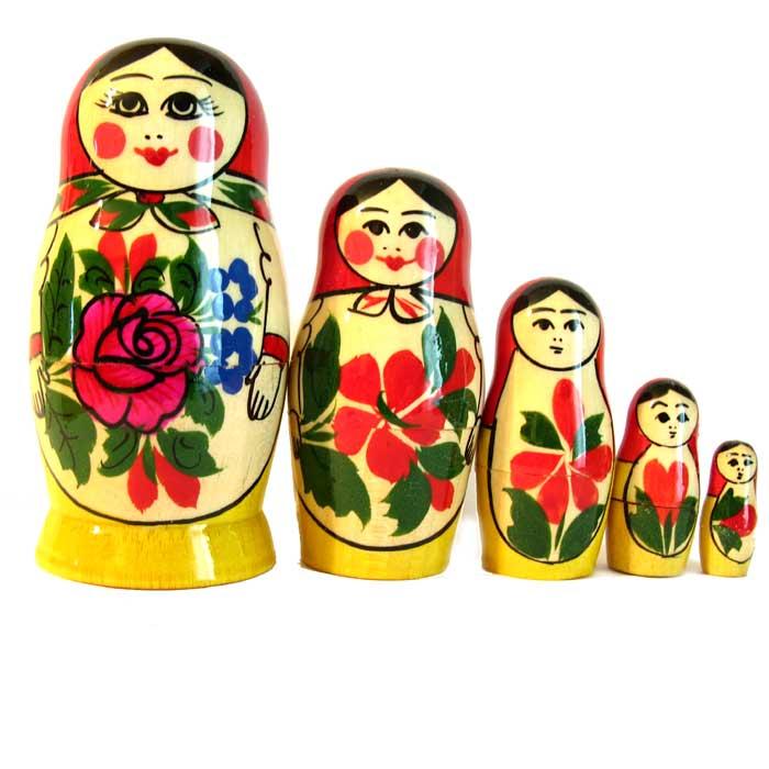 Матрешка Россияночка, 5 мест, фото 2