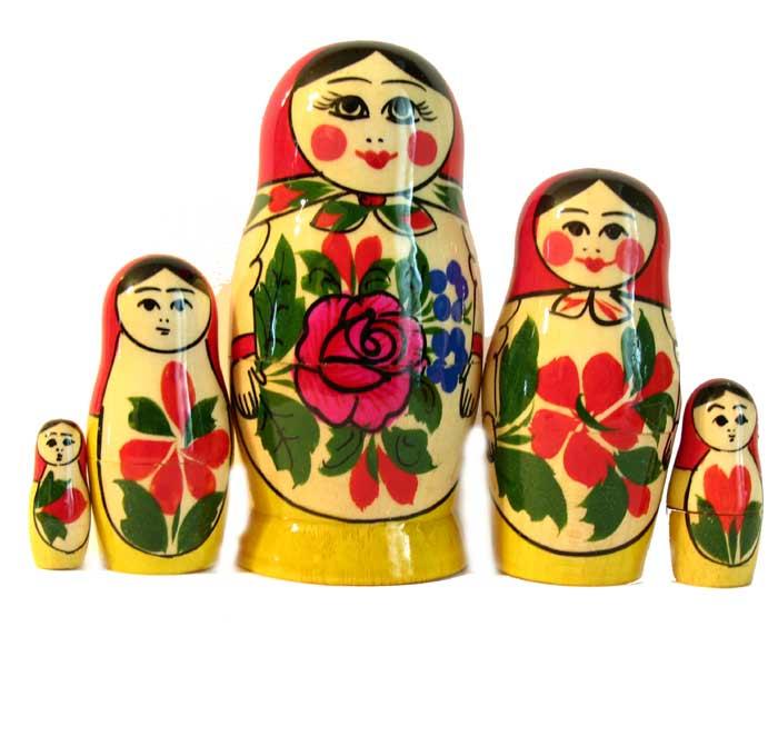 Матрешка Россияночка, 5 мест, фото 3