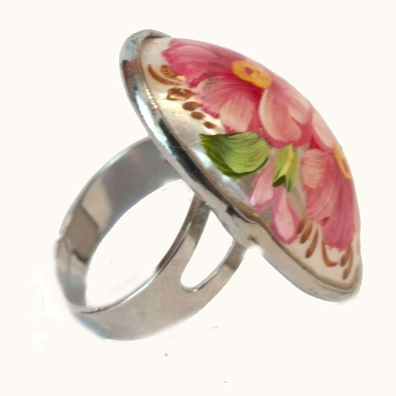 Кольцо розовые розы, фото 1