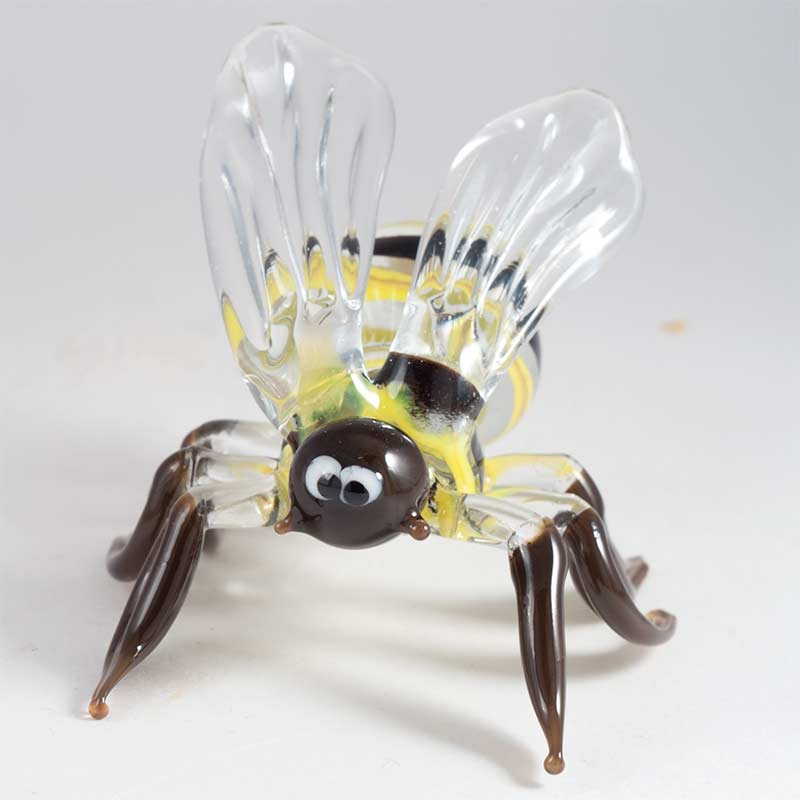 Пчела фигурка стеклянная, фото 2