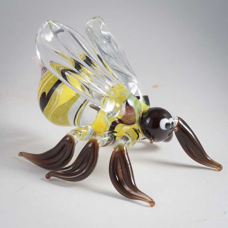 Пчела фигурка стеклянная, фото 3