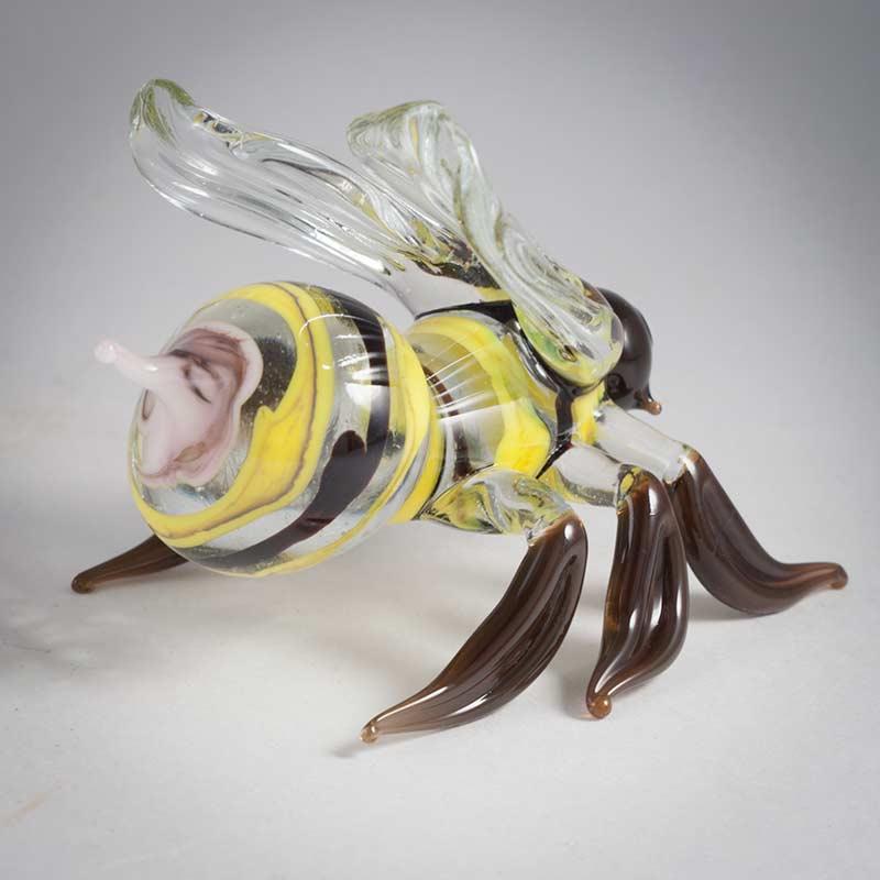 Пчела фигурка стеклянная, фото 4