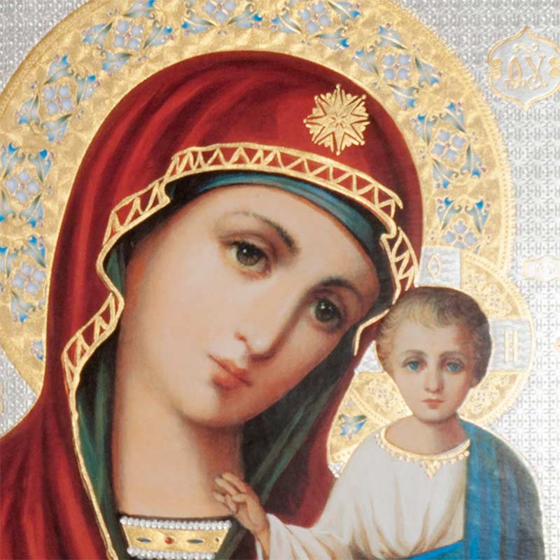Икона Казанская  Божья Матерь, фото 2