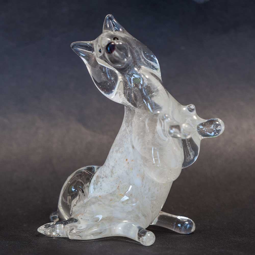 Шпиц фигурка из стекла, фото 2