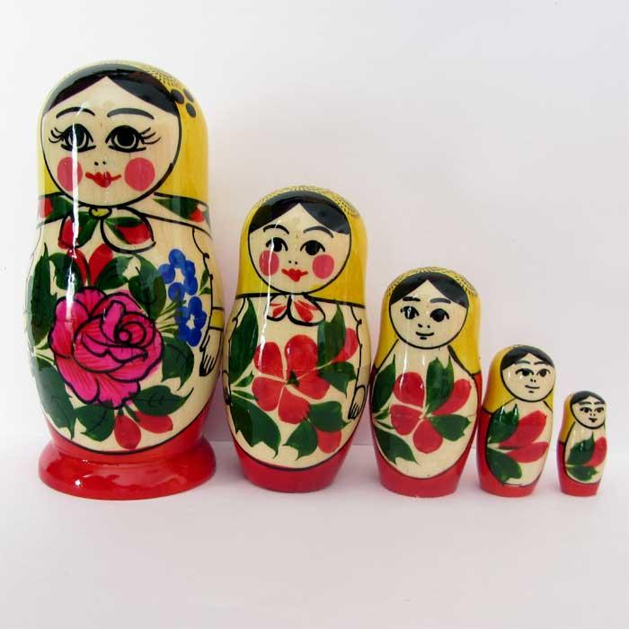 Матрешка Россияночка, 5 мест, фото 5