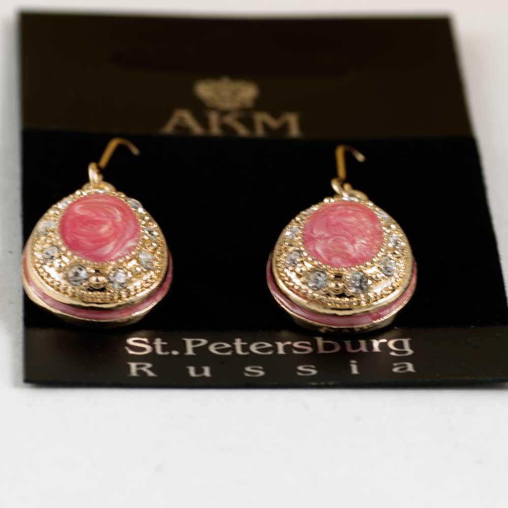 Сережки Овал розовый, фото 4