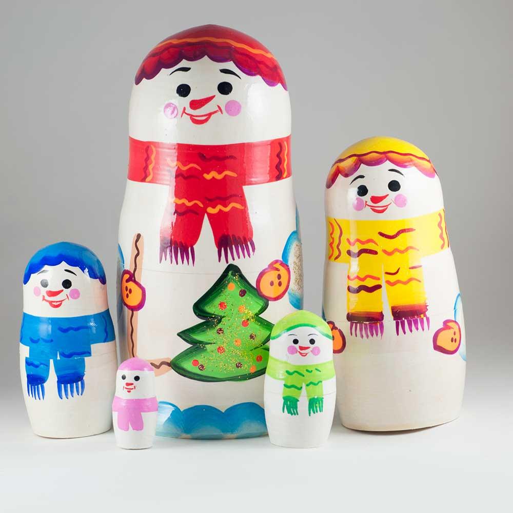 Матрешка Снеговики, фото 1