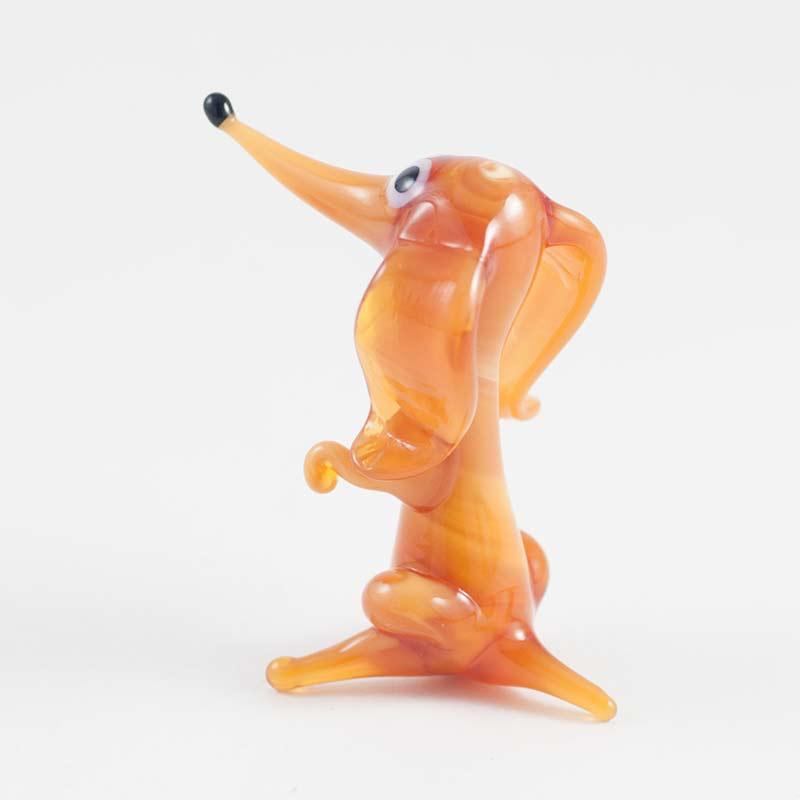 Стеклянная фигурка красной собачки, фото 4