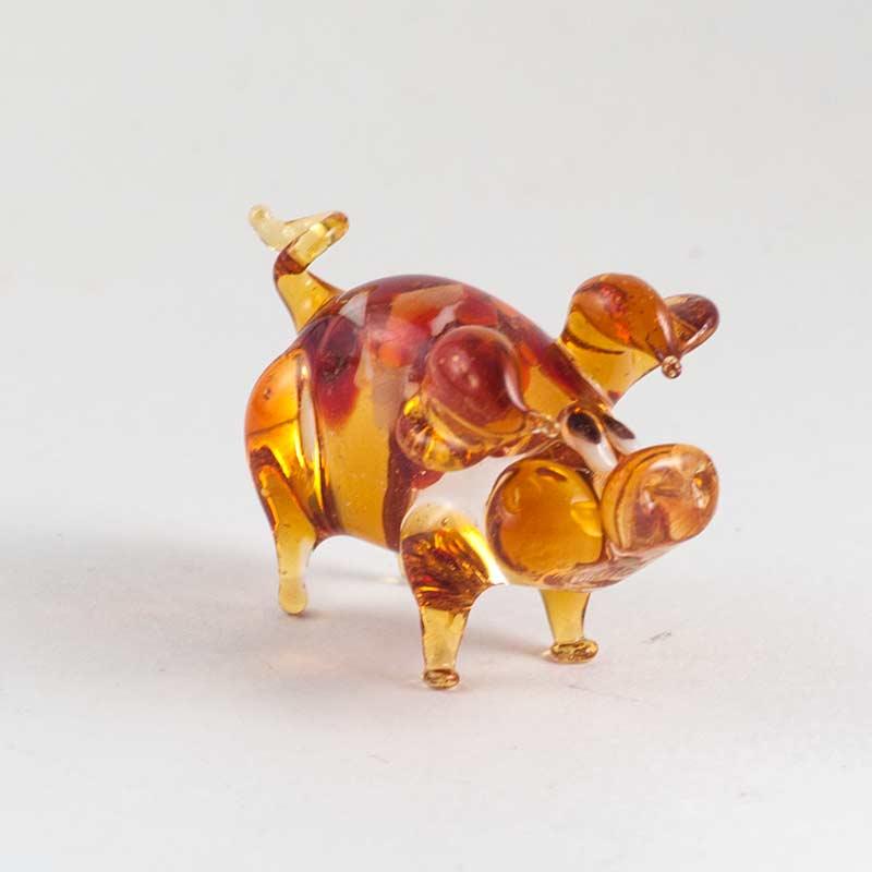 Свинка коричневая фигурка, фото 1