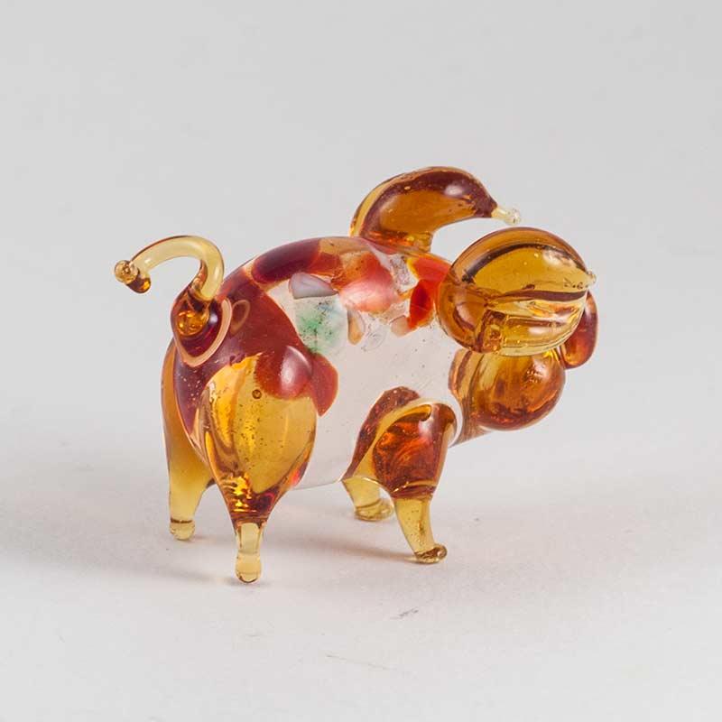 Свинка коричневая фигурка, фото 2