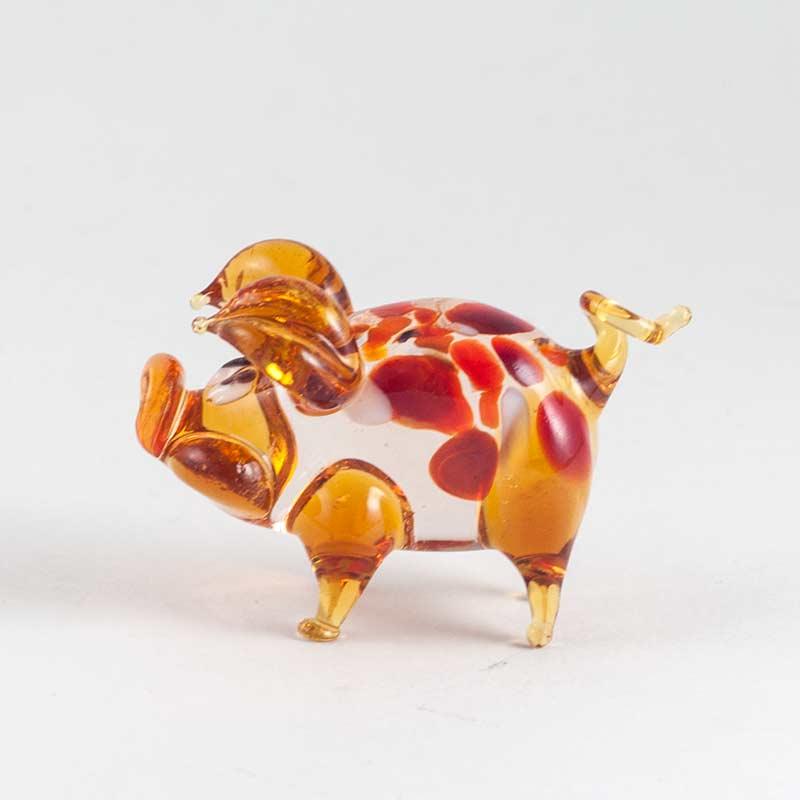Свинка коричневая фигурка, фото 3