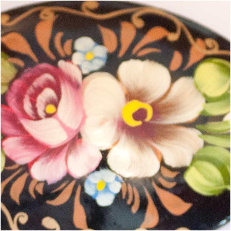 Два цветка брошка, фото 2