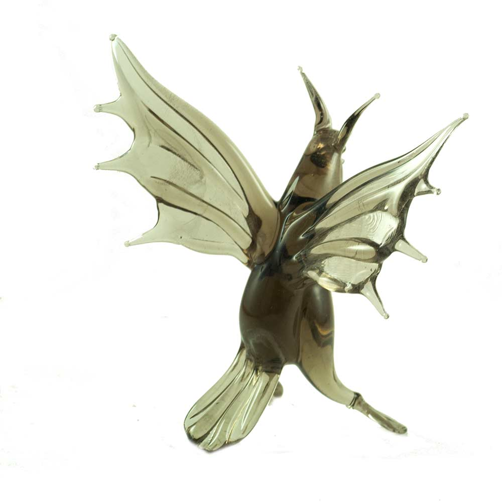Летучая мышь фигурка стеклянная, фото 3