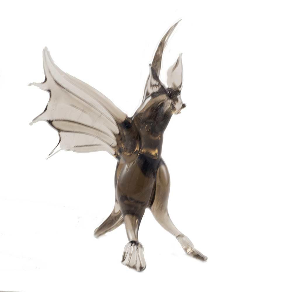 Летучая мышь фигурка стеклянная, фото 2