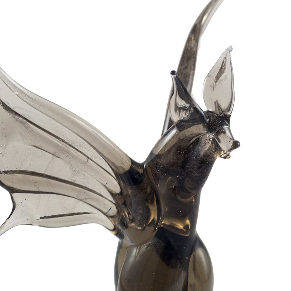 Летучая мышь фигурка стеклянная, фото 4