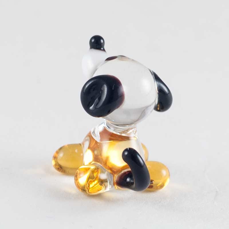Жёлтая собака стеклянная фигурка Миниатюрные