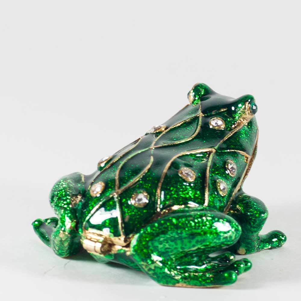 Шкатулка зеленая лягушка, фото 2