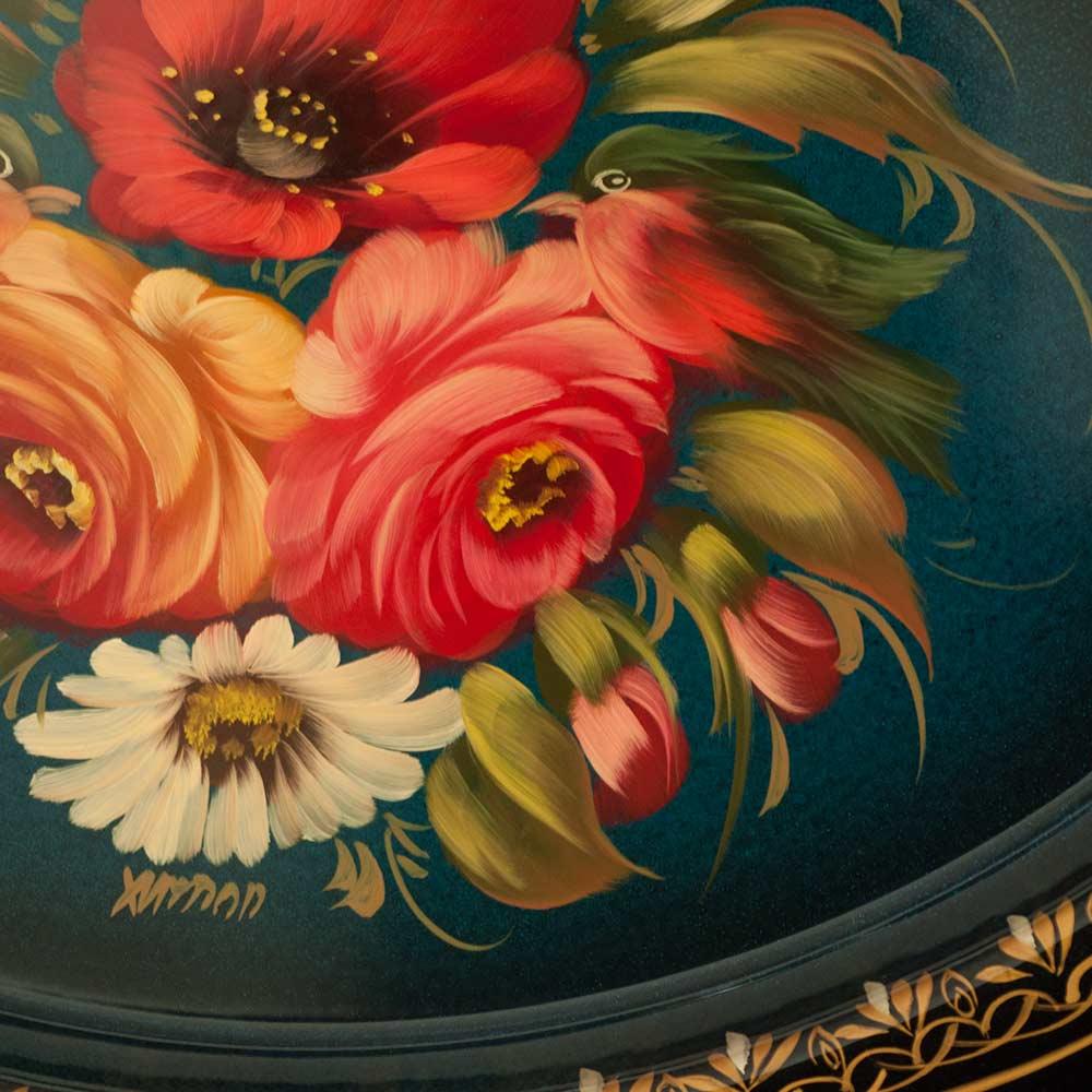 Поднос Жостово Яркие цветы, фото 2