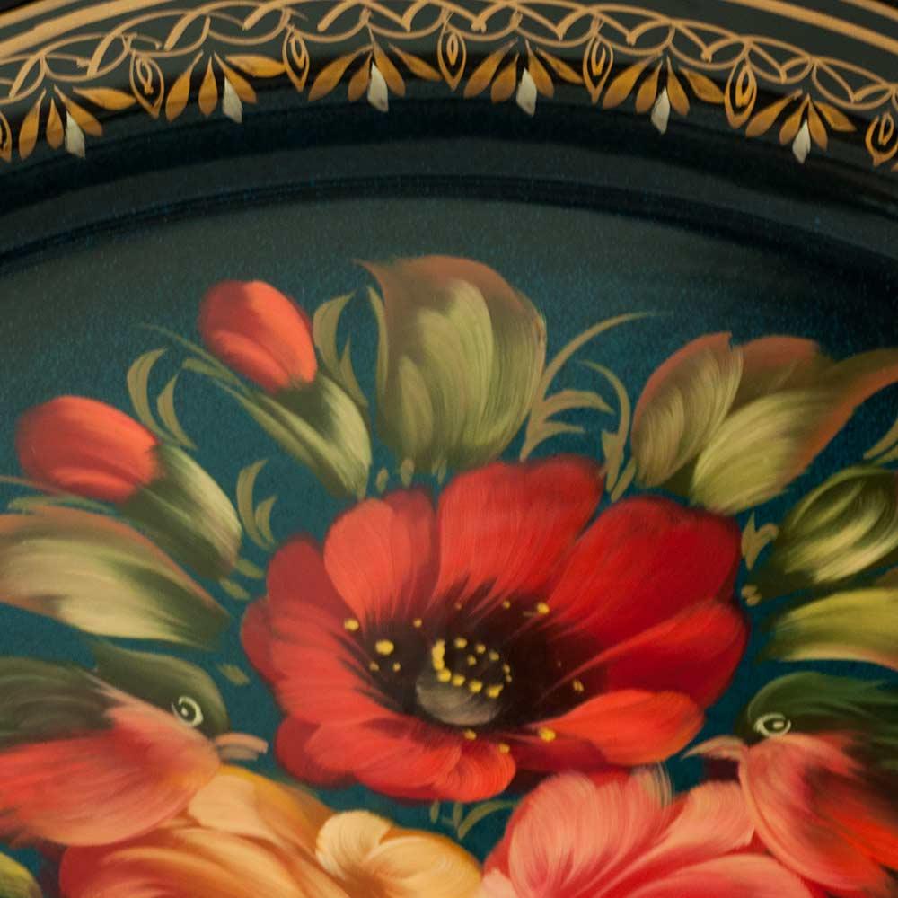 Поднос Жостово Яркие цветы, фото 3