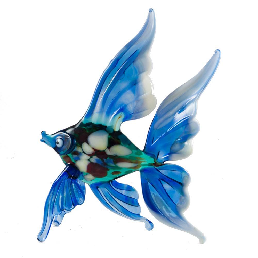 Рыба синяя фигурка, фото 1