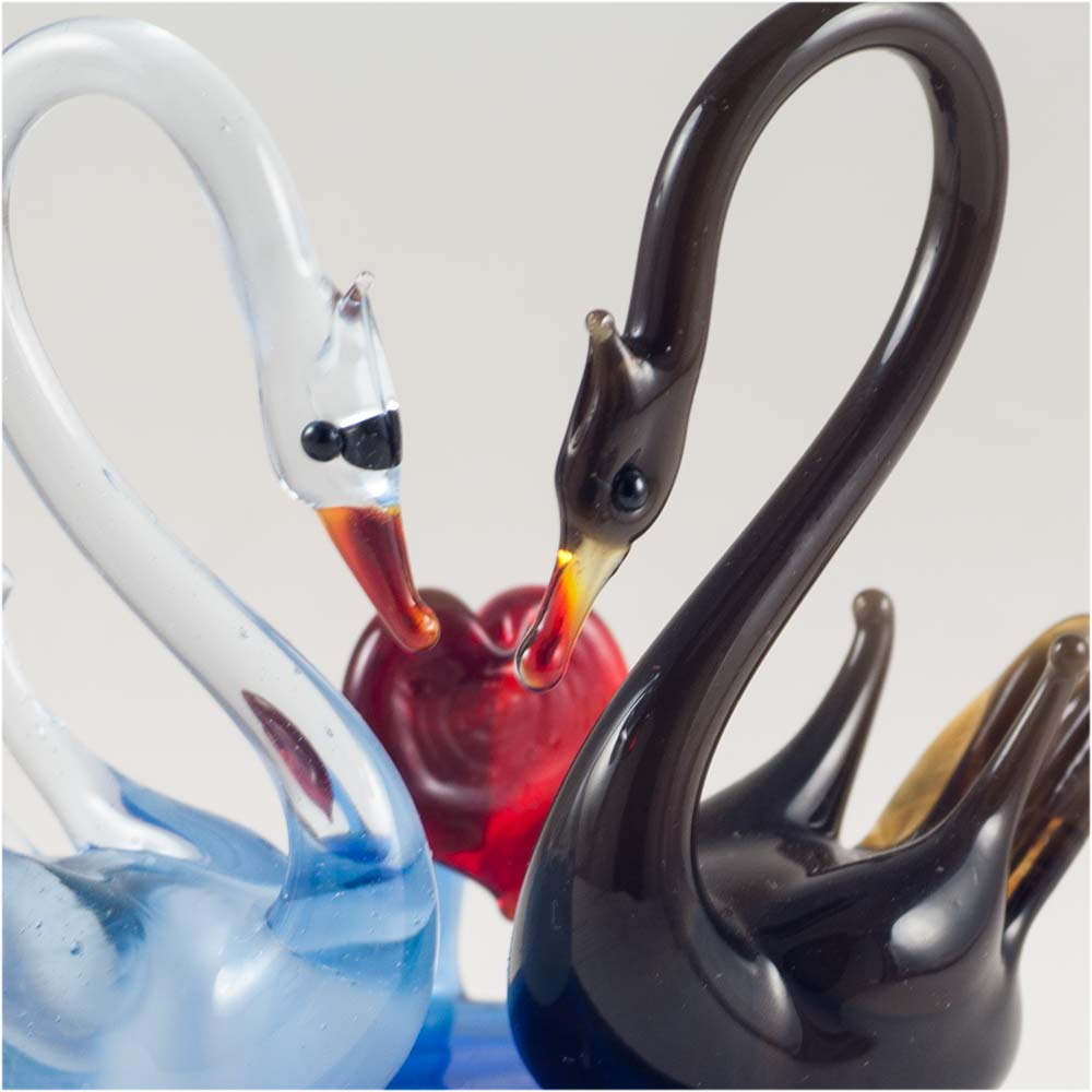 Стеклянная фигурка Два лебедя, фото 5