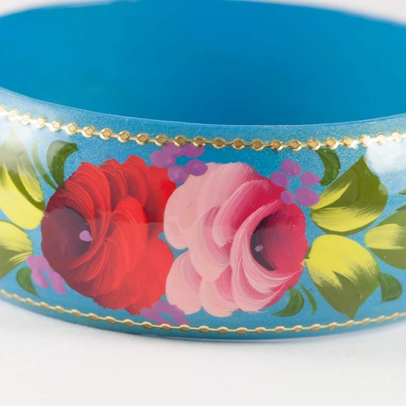 Браслет розы на голубом фоне, фото 3