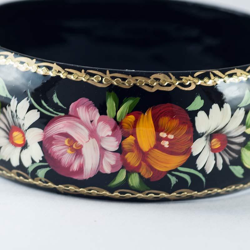 Браслет цветы на черном фоне, фото 3