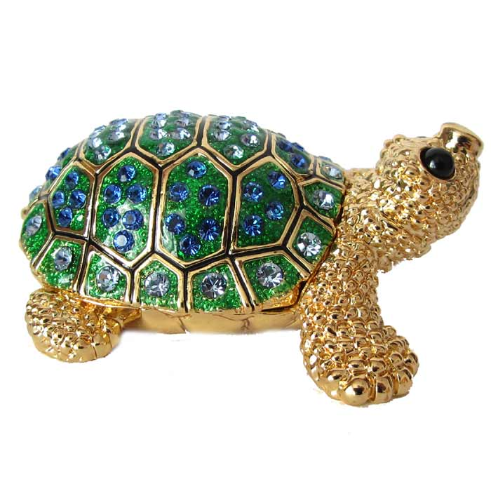 Фото сувенир из камня зеленая черепаха движение