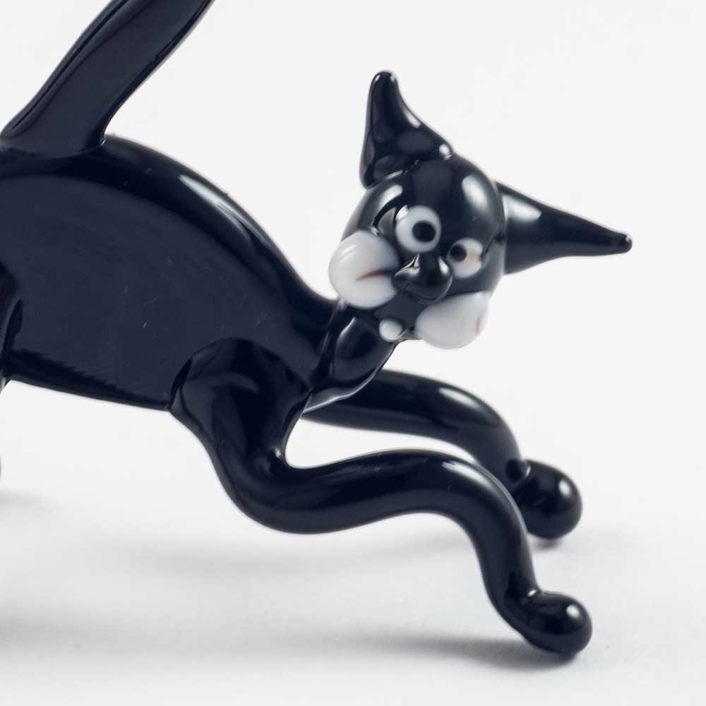 Фигурка черный  кот Коты