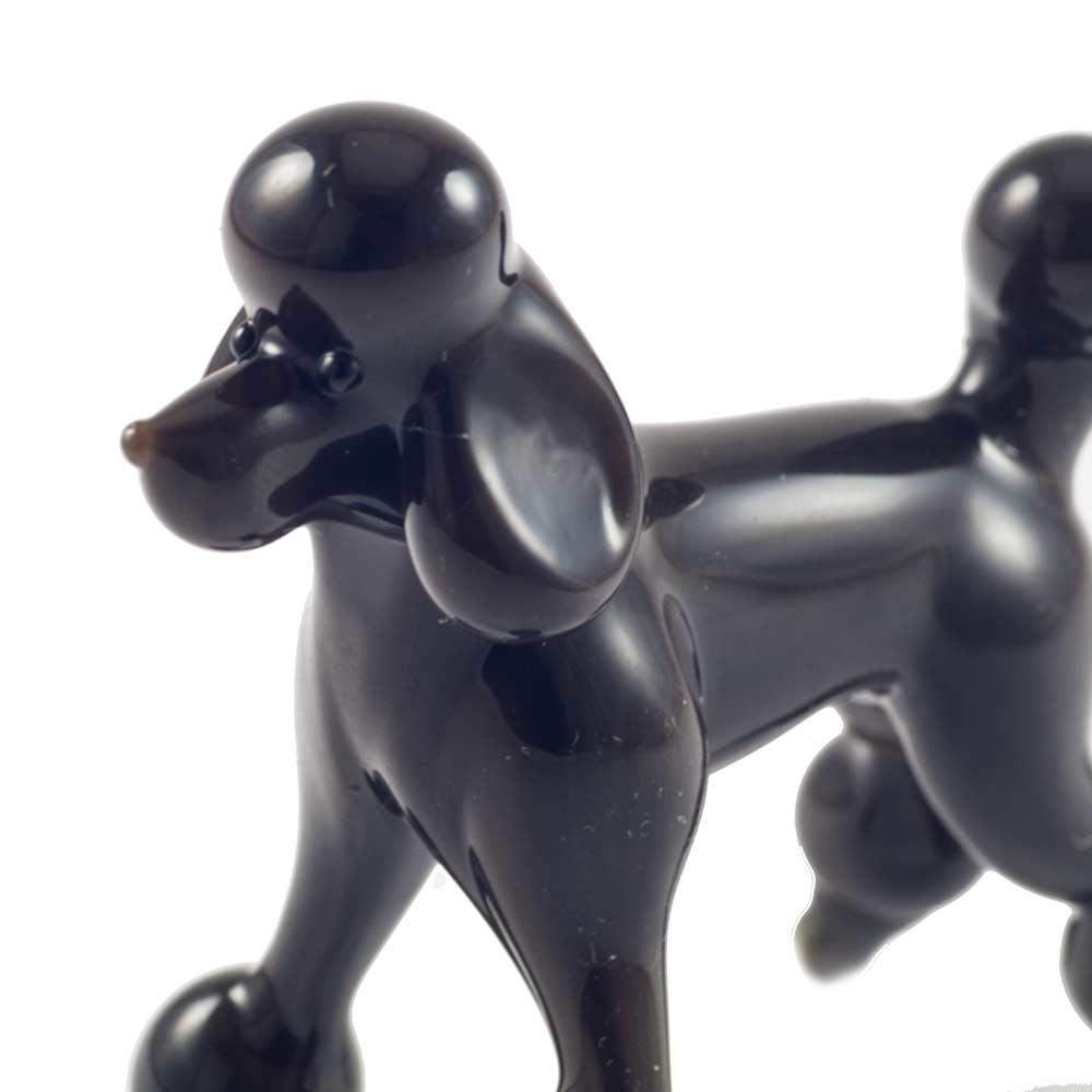 Черный пудель фигурка Собаки