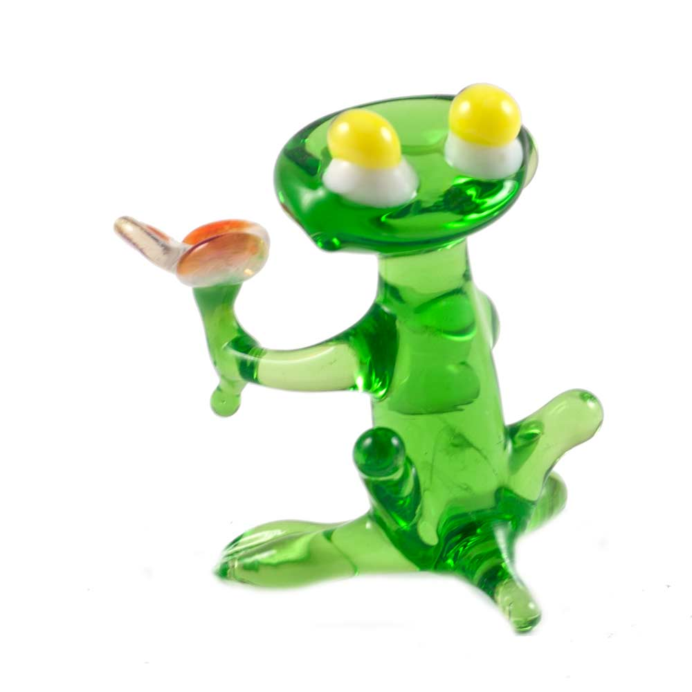 Лягушечка с цветком Рептилии
