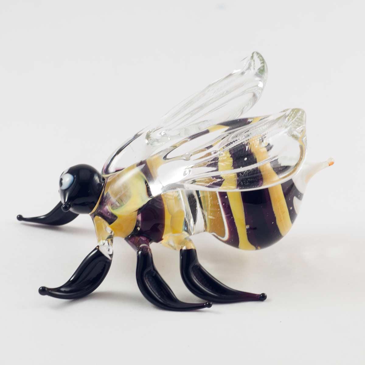 Пчела фигурка из стекла Насекомые