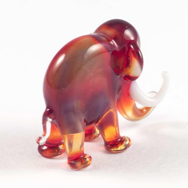 Слоник красный фигурка из стекла Миниатюрные