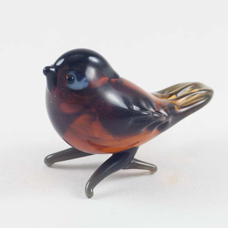 Воробей фигурка из стекла Птицы