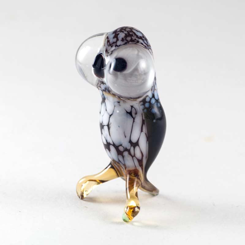 Стеклянная фигурка  Сова Птицы