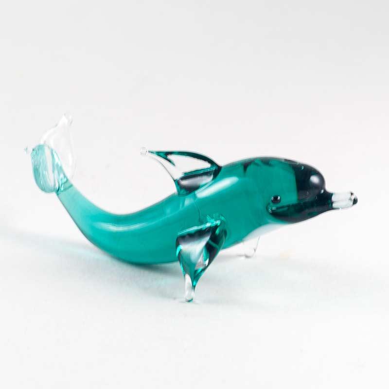 Стеклянная фигурка Дельфин Рыбы
