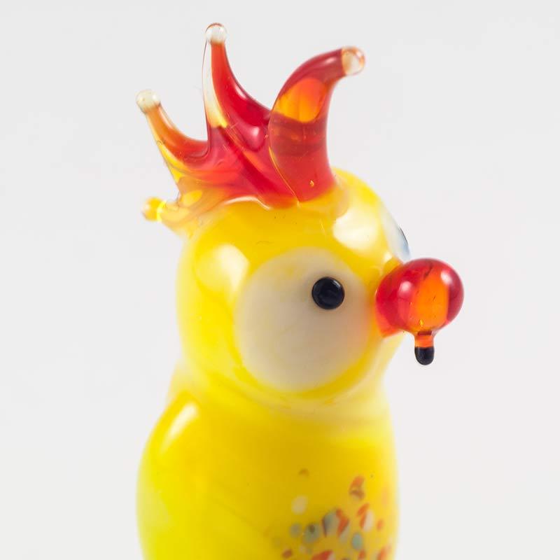 Желтый попугай фигурка Птицы