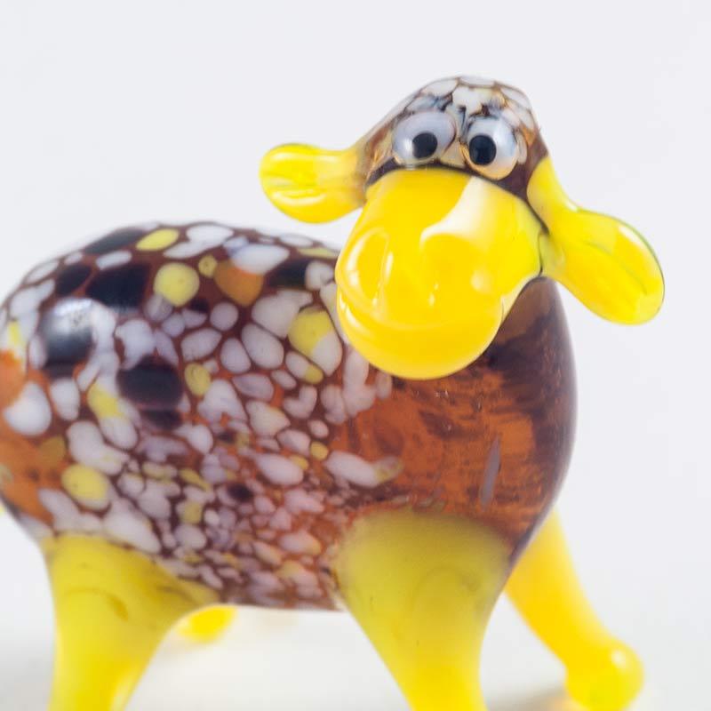 Стеклянная фигурка Овечка Животные
