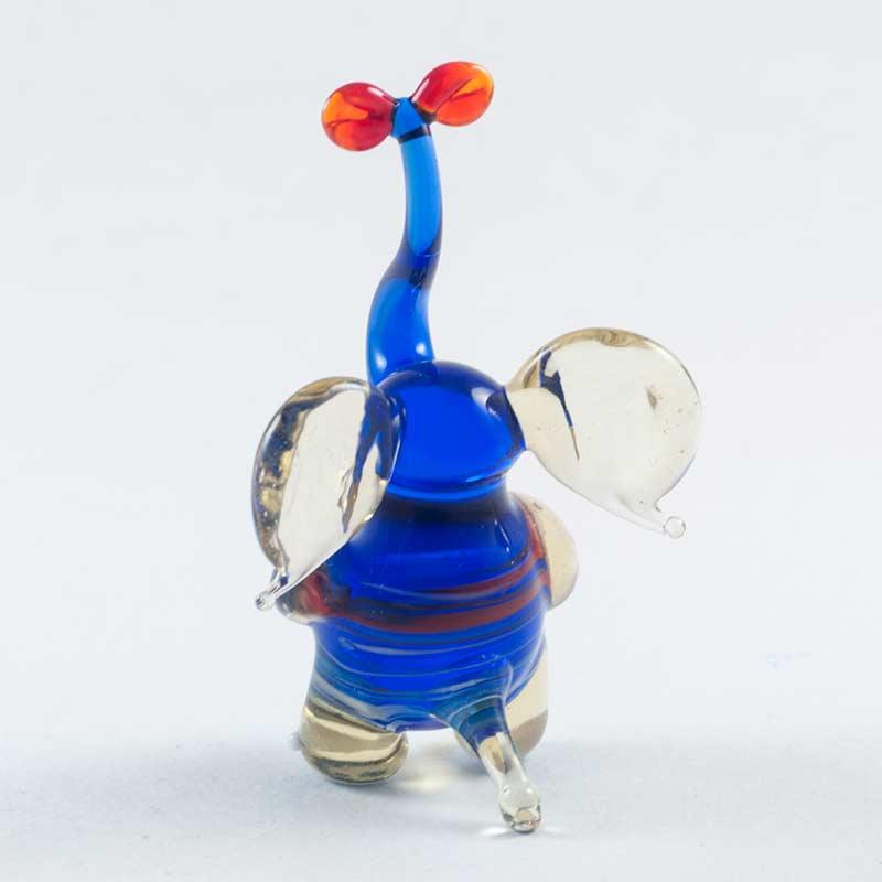 Слоник с бантом синий Животные