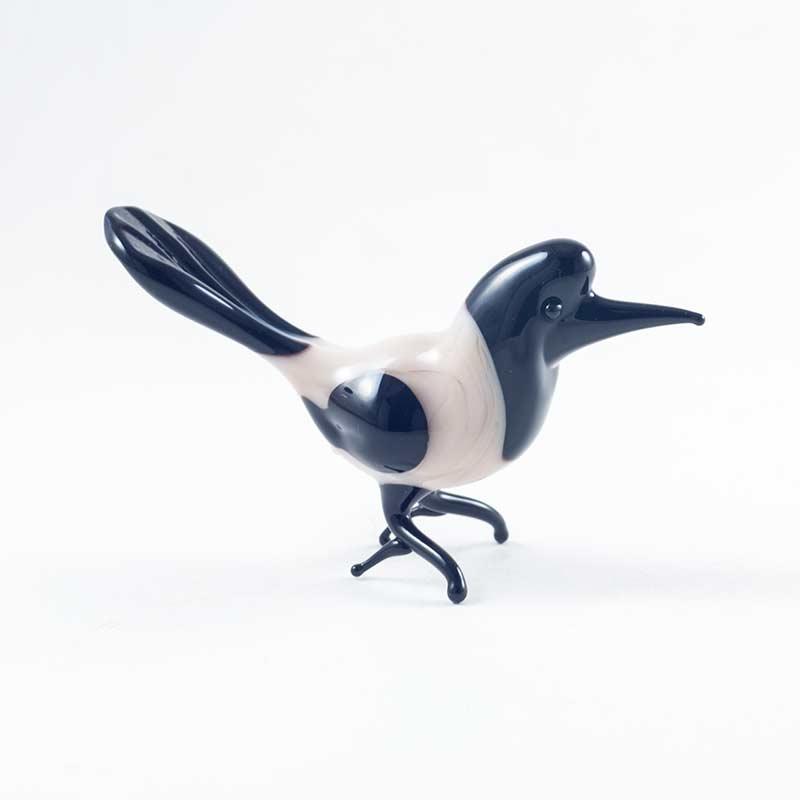 Стеклянная фигурка Сорока Птицы