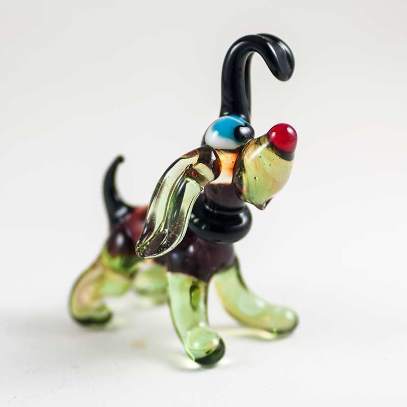 Бобик фигурка из стекла Собаки