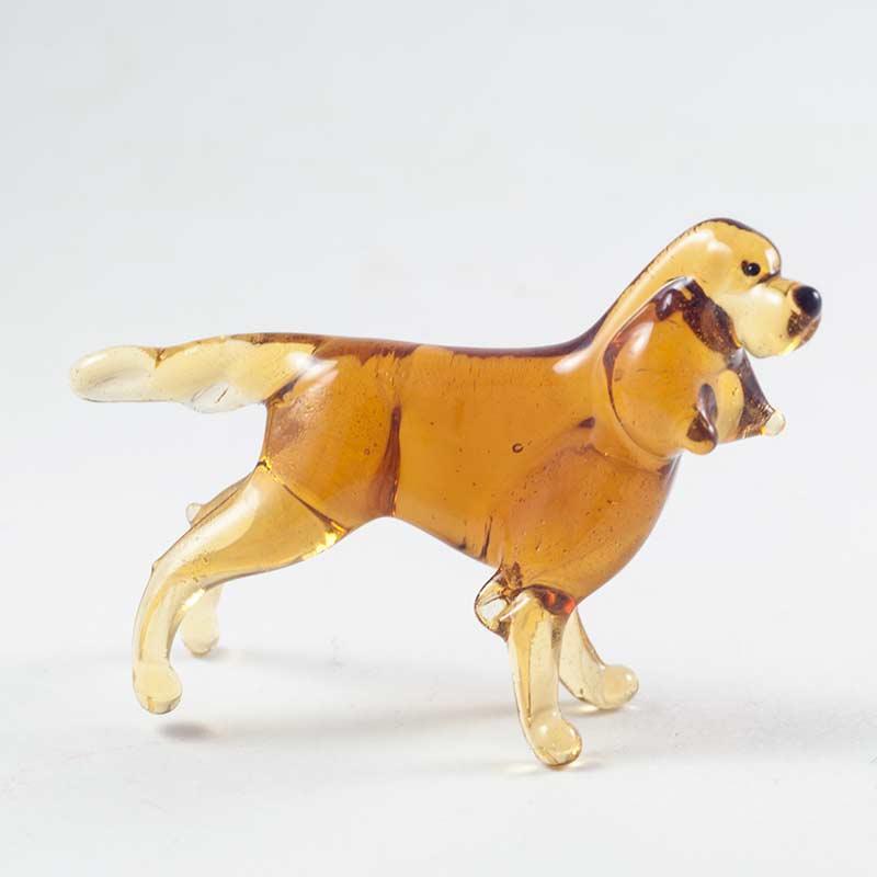 Стеклянная фигурка русский спаниель Собаки