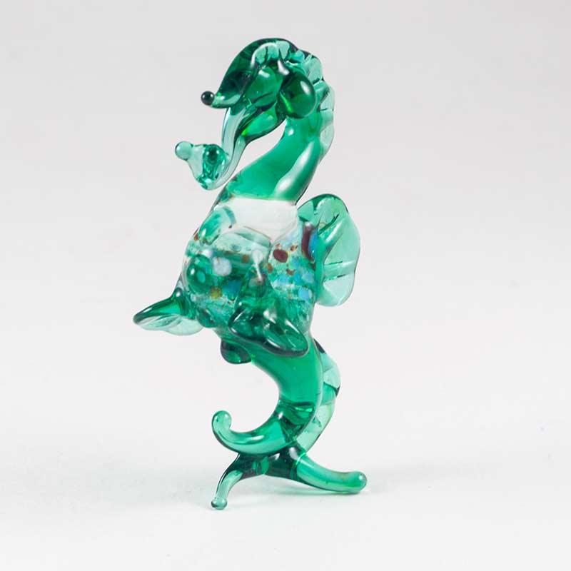 Морской конек фигурка зеленая Рыбы