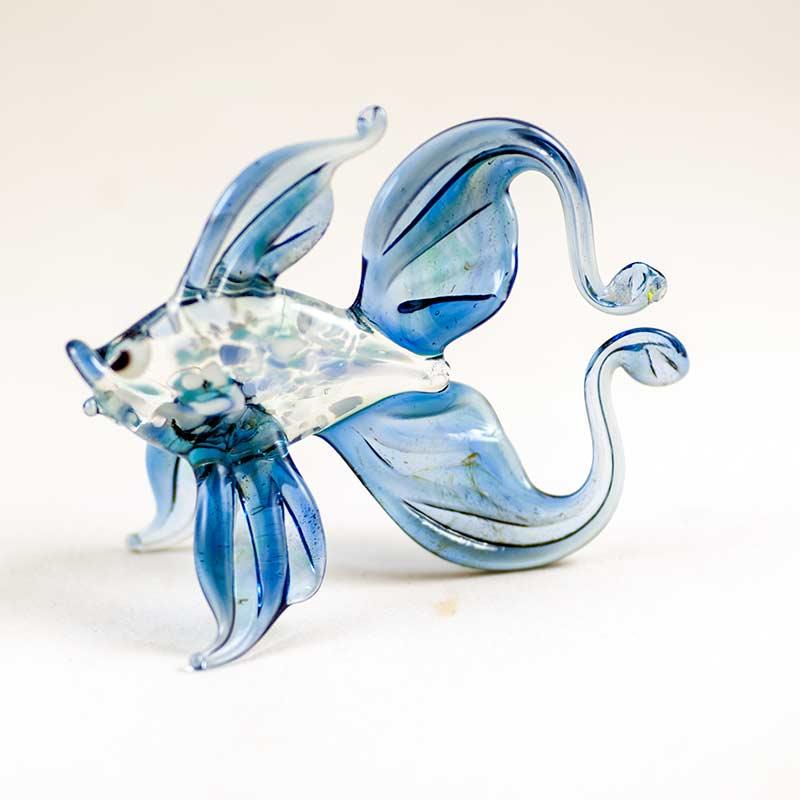 Стеклянная  фигурка золотая рыбка Рыбы